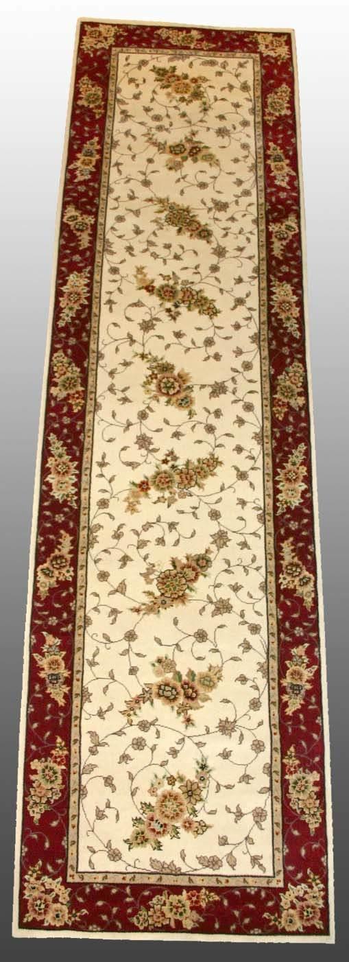 504: Silk/Wool Rug 2'6 x 10