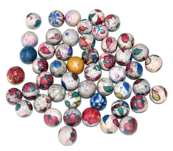 1023: 50 - 19th c Porcelain Marbles from Atlanta Georgi
