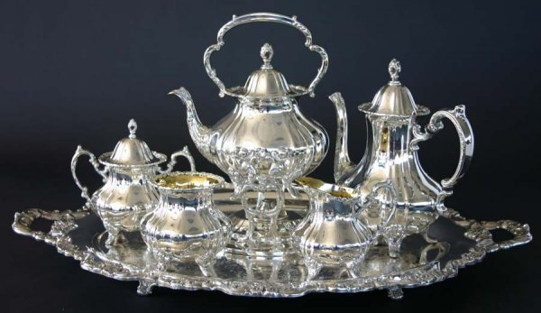 9: Victorian Tea & Coffee Silver Service Set