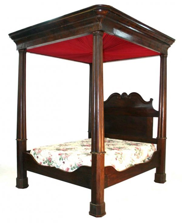 15: American Empire Mahogany Full Tester Bed