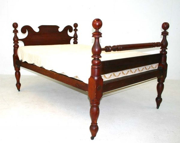 36: Classical American Empire Period Cherry Bed