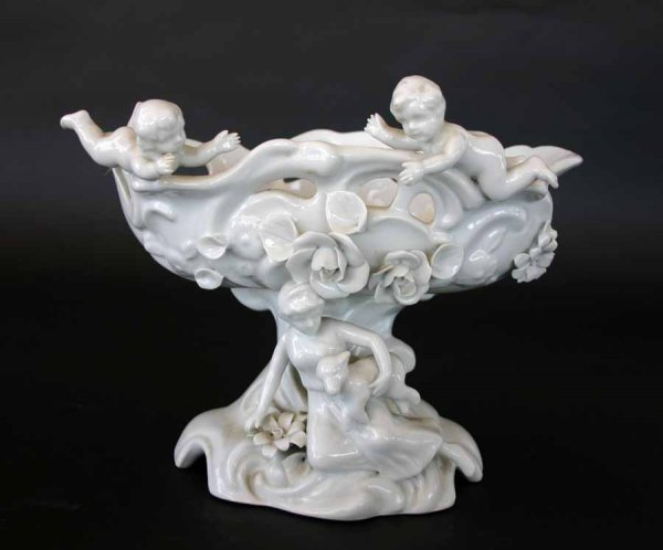 20A: Porcelain Compote with Cherubs