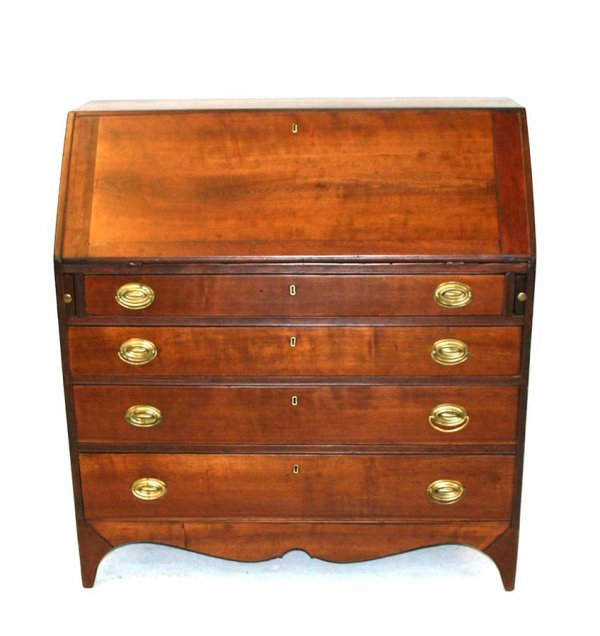 21: American Period Federal Cherry Slant Lid Desk with