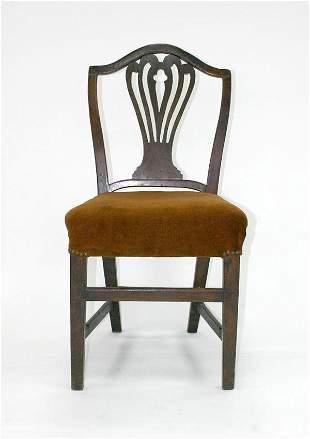English Hepplewhite Shield Back Chair. Circa 1800