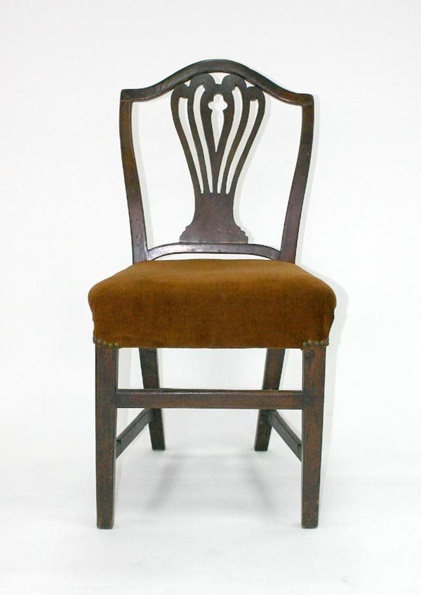 5: English Hepplewhite Shield Back Chair. Circa 1800