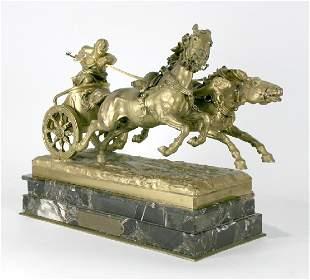 Monumental Bronze Presented to Edward Rickenbacker
