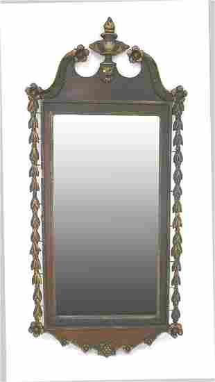 Irish Mahogany Chippendale Mirror. Circa 1770