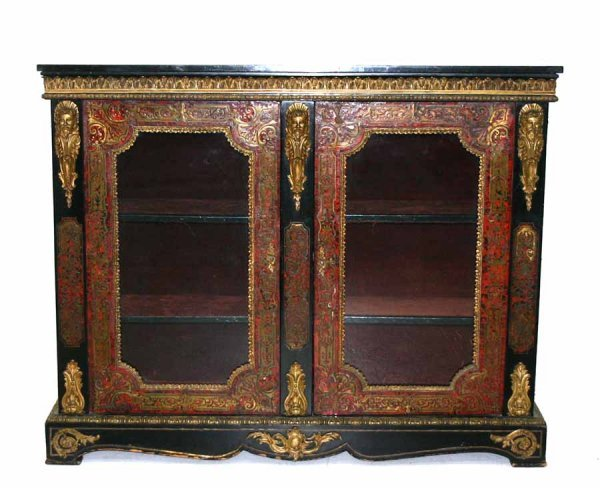 3: 19th c French Boulle Parlor Cabinet with Bronze Ormu
