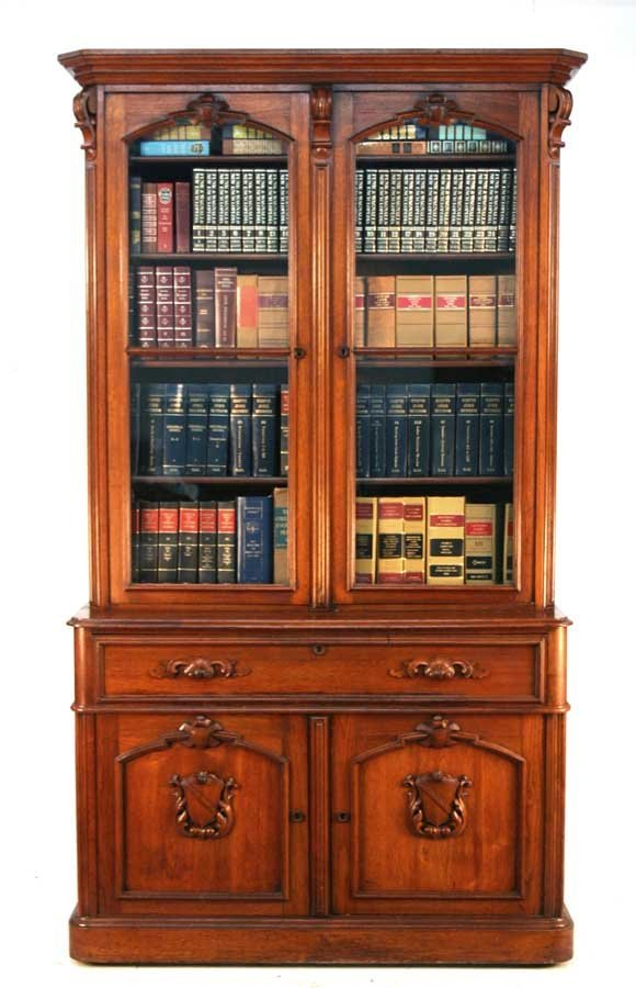 11: American Renaissance Revival Walnut Secretary Bookc