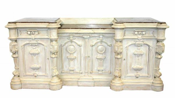16: Rare American Renaissance Revival Sideboard with In
