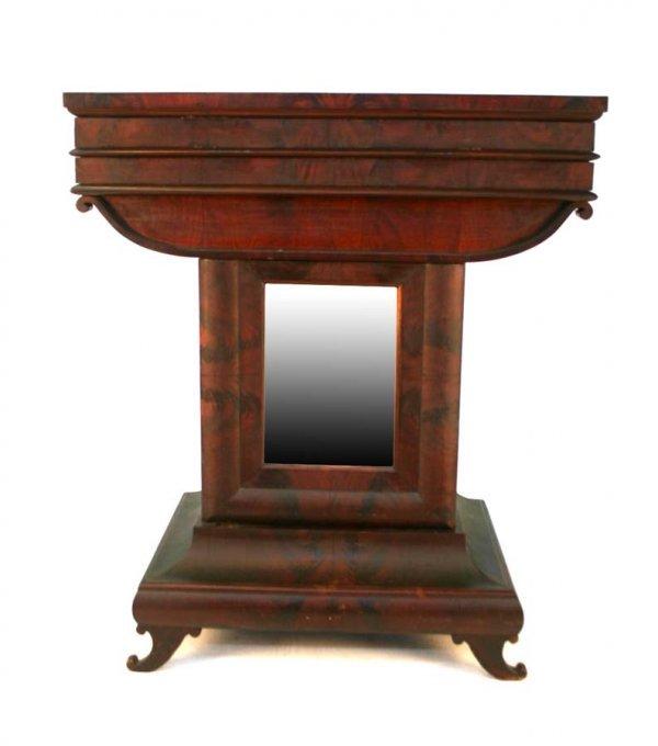 19: Rare American Empire Mahogany Mint Julep Cabinet. T
