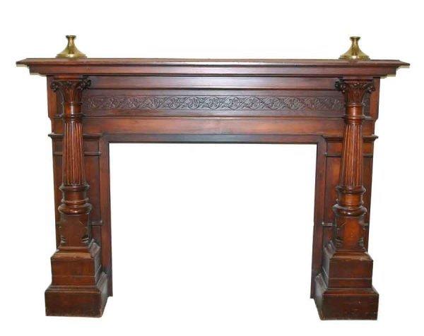 8: Rare Victorian Renaissance Walnut Carved Mantle