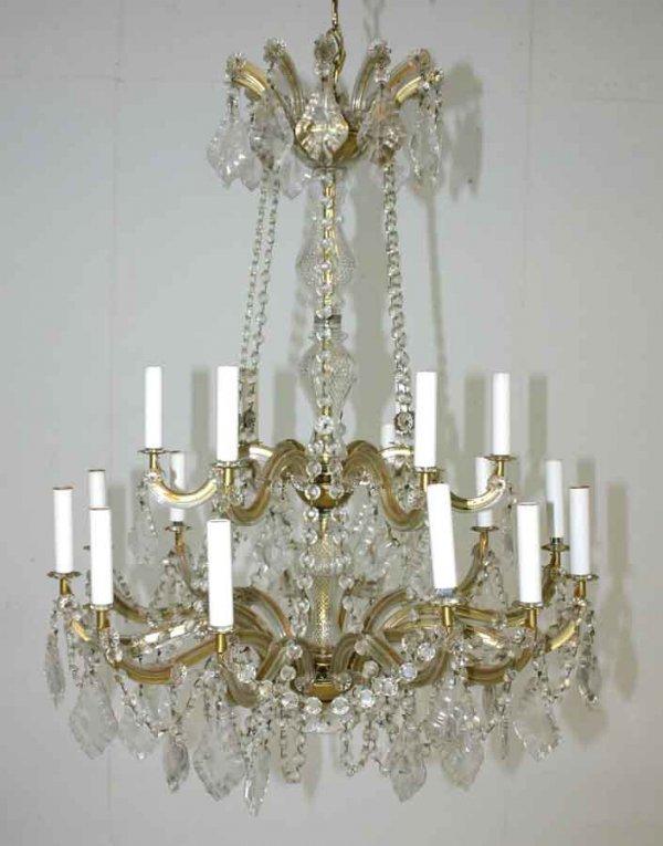 9: Sixteen Light Maria Theresa Crystal Chandelier.