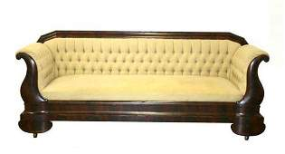 183 Period American Empire Flame Mahogany Sofa C 1830