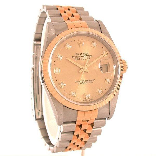 246: Gentlman's Rolex Watch with Diamond Bezel