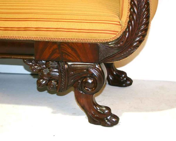 3: American Federal Mahogany Sofa with Winged Claw Feet