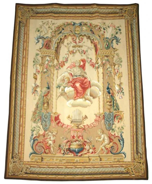 7: Hand Made High Quality European Tapestry with Cherub