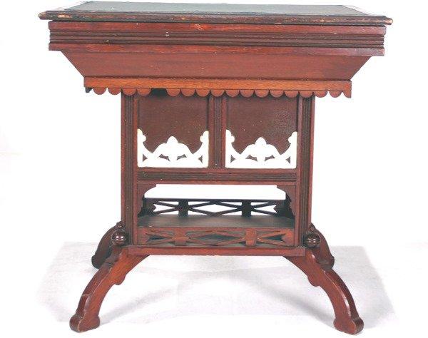 4: Victorian Eastlake Work Table C. 1880