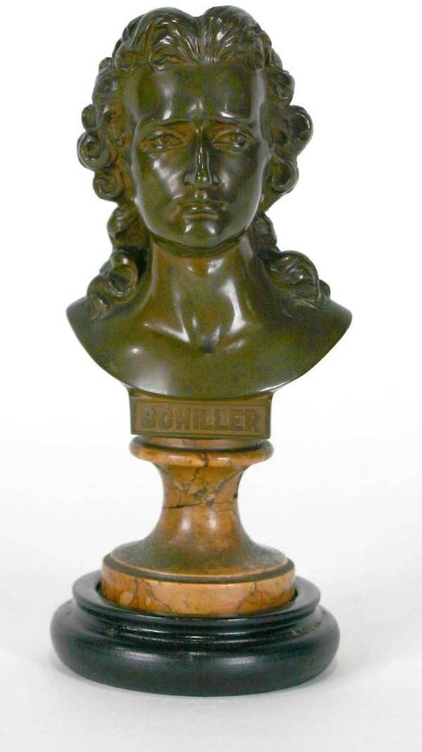 5: Antique Bronze Bust of Schiller