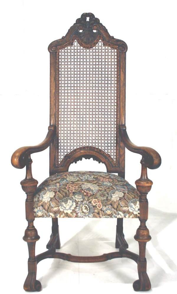 6: English William & Mary Fire Side Chair C. 1890