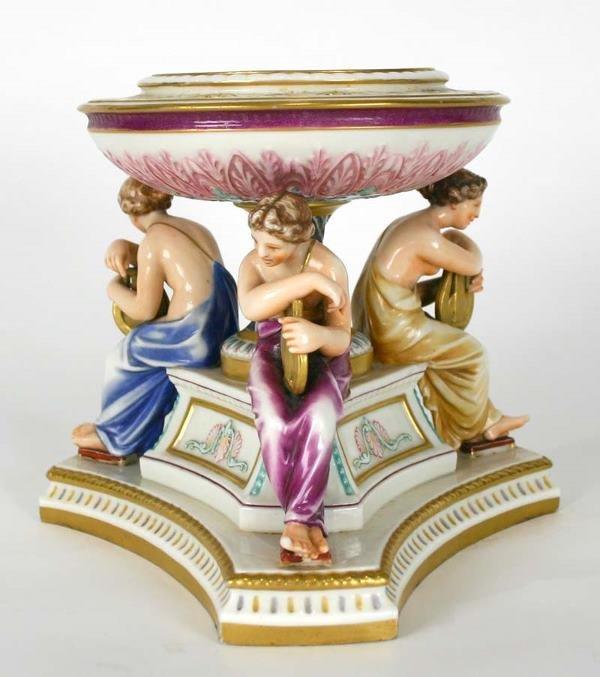9: Royal Worcester Porcelain Figural Compote C. 1880