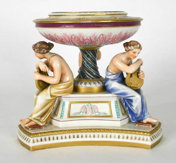 9: Royal Worcester Porcelain Figural Compote C. 1880 - 4
