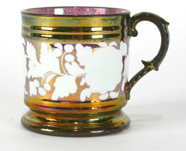 13: English Decorated Copper Luster Cup