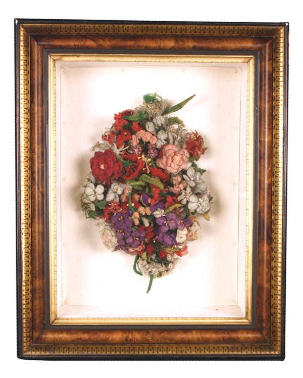 605: Shadow Box Framed Dried Floral Arrangement