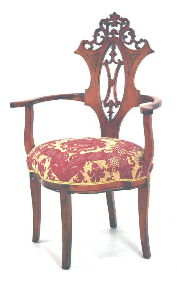 611: Pierced Carved Corner Chair