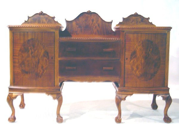 20: English Mahogany Chippendale Style Sideboard