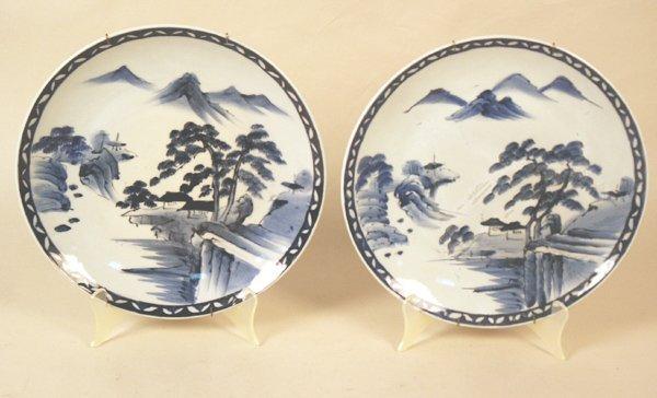 503: Pair Oriental Plates