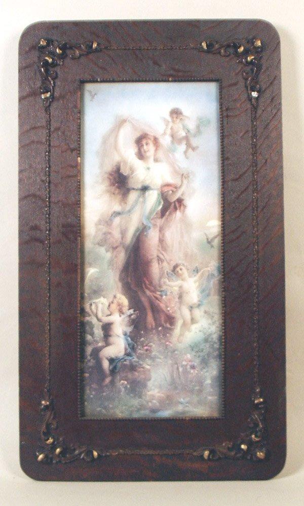 505: Art Nouveau Print of Lady & Cherubs