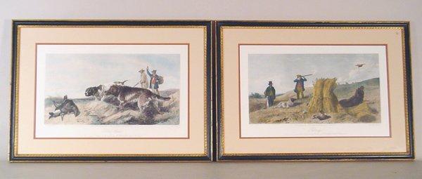 507: Pair British Hunt Scene Prints
