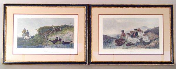 508: Pair British Hunt Scene Prints