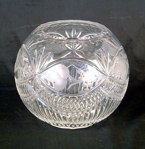 509: Cut Crystal Fish Bowl