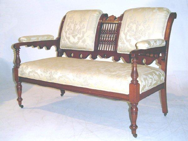 511: Late Victorian Walnut Settee