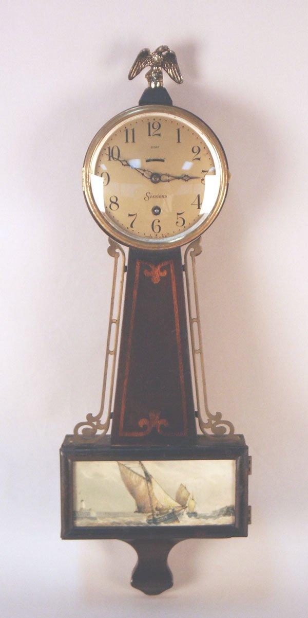 521: Sessions 8-Day Banjo Clock