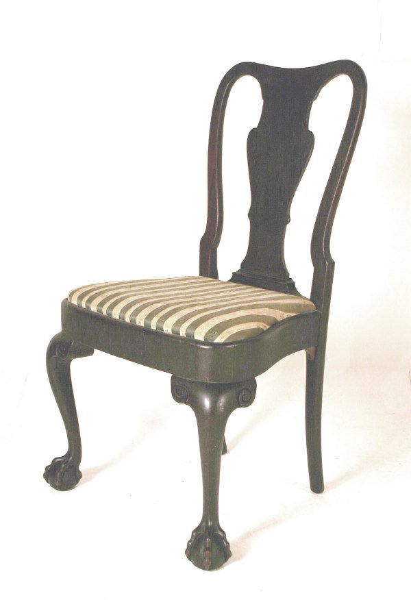 4: 19th C. Side Chair with Ball & Claw Feet