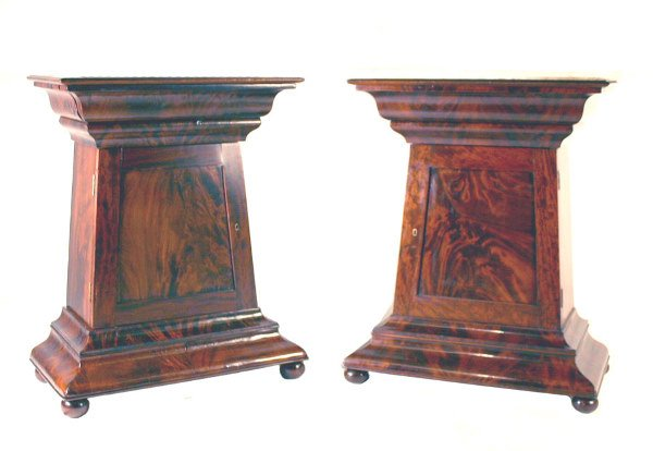 62: Pair Early 19th C. American Marble Top Mint Jul
