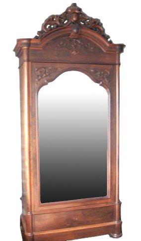 153: Rococo Revival Rosewood Wardrobe Signed Alexander