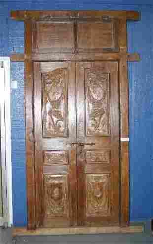 Teak Wood Door Unit