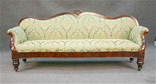 Mahogany Empire Style Sofa