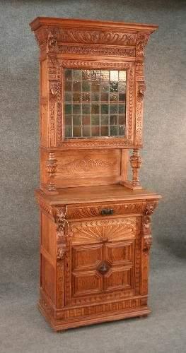 Jacobean Revival Parlor Cabinet