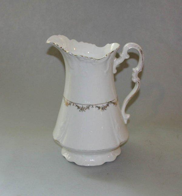 """1350: Pitcher Marked Sterling Porcelain Co. 13""""H."""