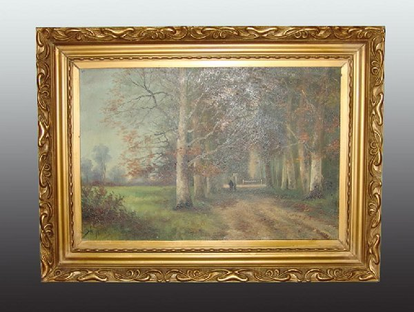 8: 19th Century  Oil on Canvas Painting Artist Signed