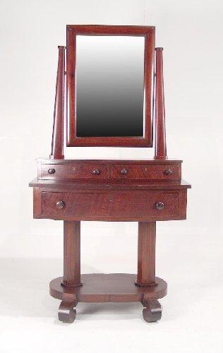 9: American Empire Mahogany Dressing Stand