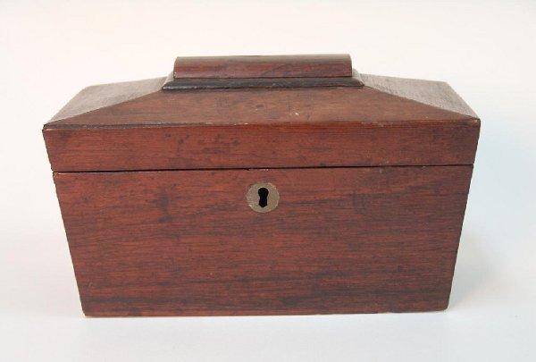 11: American Empire Rosewood Tea Caddy