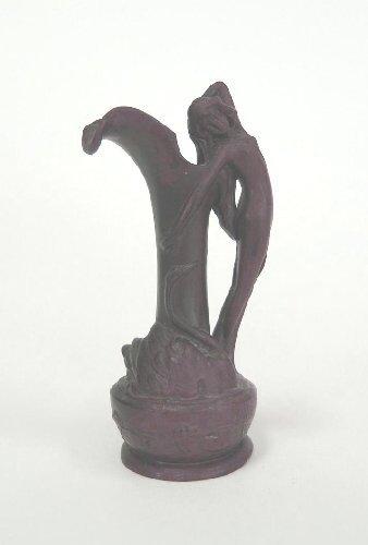 17: Bronze Art Nouveau Figural Vase