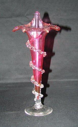 20: Victorian Cranberry Flower Vase