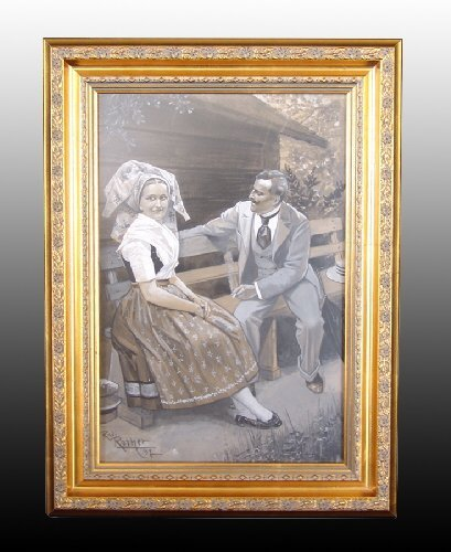 """020A: Gauche on Artists Board """"A Loving Couple"""""""